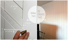 herringbone sharpie wall