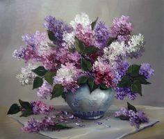 Цветочные натюрморты. Художница Anca Bulgaru.