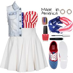 -Made in America-, created by nia-lewis on Polyvore