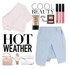 """summer"" by stacy-gustin ❤ liked on Polyvore featuring Steve J & Yoni P, Rosie Assoulin, Fendi, Larsson & Jennings, Converse, NARS Cosmetics, Bobbi Brown Cosmetics, Laura Mercier and Trish McEvoy"