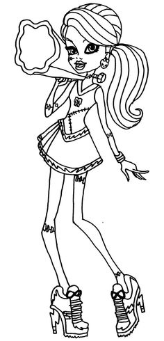 Monster High Frankie Stein Thirst Coloring Monster High Coloring