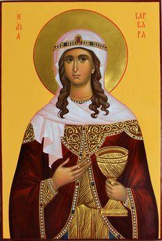 Marina Shiptya Byzantine Icons, Byzantine Art, Christian Church, Christian Art, Saint Barbara, Orthodox Christianity, Orthodox Icons, Saints, Artwork