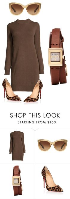 """""""Brown ...."""" by awewa ❤ liked on Polyvore featuring Coach, Gucci and Christian Louboutin"""
