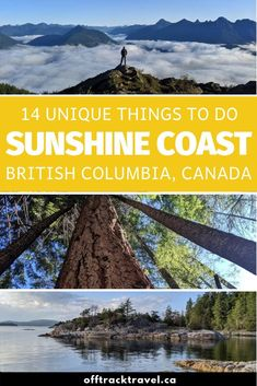 Discover 14 unique things to do on the Sunshine Coast, BC, one of the most underrated and beautiful regions in all of Canada! Sunshine Coast Bc, Salt Spring Island Bc, Mountain Range, Mountain Biking, Visit Canada, Canada Canada, Oh The Places You'll Go, Places To Visit, Vancouver Island