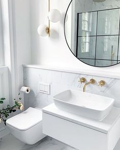 We love the way @lovetearsandteepees have transformed a small unused bathroom into the most beautiful guest bathroom. Who said white was boring?