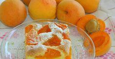 Apricot cake (in slovak) - Hrnčekový koláč s marhuľami, from Iryna Slovak Recipes, Czech Recipes, Czech Desserts, Sweet Desserts, Sweets Recipes, Mexican Food Recipes, Cooking Recipes, Apricot Cake, Apricot Recipes