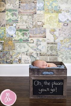 @Drew Bergstrom photography - I love this idea!  maps plus Dr. Seuss quote