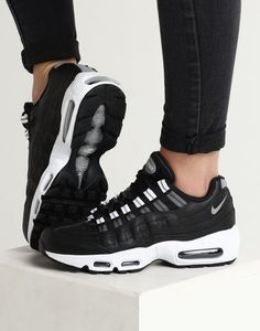 competitive price 2a1d4 05f02 Nike Women s Air Max 95 Black Silver