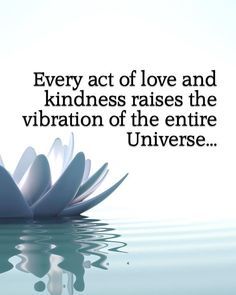 Let your love flow freely.