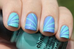 China Glaze For Audrey and Electric Beat
