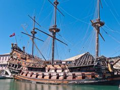 Spanish Galleon in Port