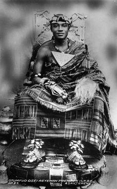 Africa   Asantehene Otumfuo Osei Agyeman Prempeh II [r. 1931-70]. Ghana. ca. early 1900s   ©Holly W. Ross Postcard Collection