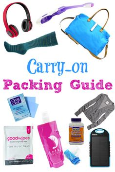 To make sure you're prepared on the plane, bookmark this carry-on packing guide with a list of our favorite products to help make your next flight a breeze. #Travel #Packing #Tips