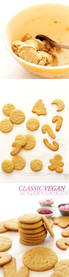Vegan Sugar Cookies made with just 1 BOWL! Perfect for holiday baking! #vegan