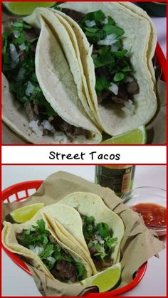 Carne Asada Street Tacos - These whip up quickly and are so full of authentic flavor. by Don't Sweat The Recipe  Read More by dontsweattherec