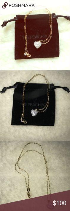 Swarovski crystal heart necklace Swarovski crystal heart necklace with 12in gold chain Swarovski Jewelry Necklaces