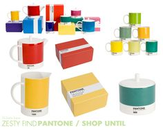 Pantone boxed ceramics from Shop Until by 74 Lime Lane, via Flickr