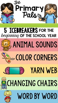 Five Icebreakers for the Beginning of the School Year | The Primary Pals