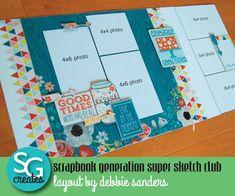 School Scrapbook Layouts, Scrapbook Generation, Scrapbook Layout Sketches, 12x12 Scrapbook, Scrapbook Templates, Travel Scrapbook, Scrapbook Paper Crafts, Scrapbooking Layouts, Paper Crafting