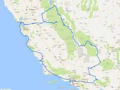 California Road Trip Itinerary Map