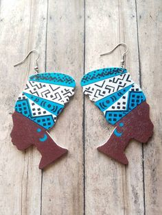Queen Melanin earrings https://www.etsy.com/listing/514131630/blue-queen-melanin-earrings-dangle