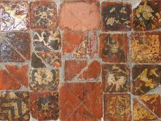 St Andrew, Much Hadham, Herts - Medieval tiles by John Salmon, via Geograph