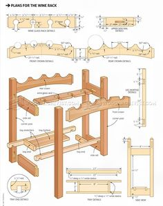 #822 Wine Rack Plans - Furniture Plans