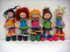 """Will's Wools Arne & Carlos """"Hippie Popjes"""" door Sientje! Arne & Carlos """"Hippy Dolls"""" by Sientje!"""