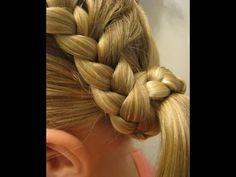 Детский хвостик, завязанный косичкой. Детские прически на длинные волосыwww.youtube.com/watch?v=oyaLJkaL7ZM