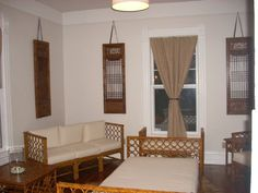 serving as simple accent piece with rattan furniture.