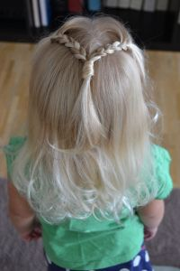 easy and quick 2 little braids into one