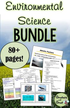 7 lessons and 7 lab activities for Environmental Science!  What a great idea for Earth Day!