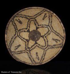 Antique Native American Apache Bowl Indian Basket 1800s