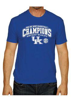 Kentucky Wildcats 2015 SEC Champions Tee http://www.rallyhouse.com/shop/kentucky-wildcats-mens-short-sleeve-fashion-tshirt-royal-28810150?utm_source=facebook&utm_medium=social&utm_campaign=SECChampsa-KentuckyWildcats $19.99