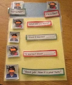 Visual supports and partner reading