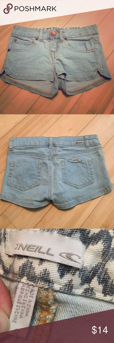 O'neill girls shorts These shorts have been worn a few times. Have two small stains on the left side. No rips. Comfortable material and super cute. In good condition! O'Neill Bottoms Shorts