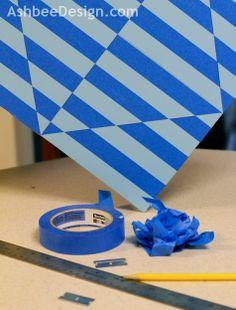 Optical Art Using Blue Painter's Tape  @ScotchBlue Painter's Tape