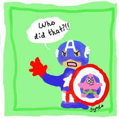 Cap's star shield :)  Just having some fun with a tablet