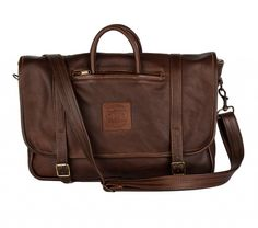 The Russel- dark brown full leather bag