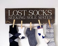 Lost Socks Sign Lost Socks Seeking Sole by SincerelySunshineCo