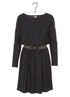 Robe en jersey Izaco Noir by DES PETITS HAUTS