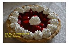 Big Boy Strawberry Pie - you can make a quick and easy Strawberry pie.