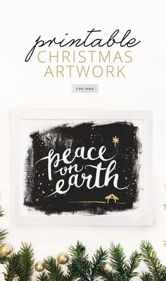Deck the halls—or your living room—with this downloadable art print. #LDS