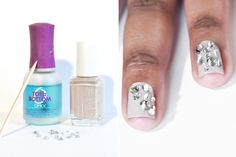 Bejeweled nails - typically not my thing but I have to admit I'm kind of lovin it!