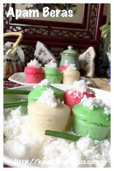 Malay style steamed rice cake - Apam Beras (马来蒸米糕·)#guaishushu #kenneth_goh   #apam_beras  #蒸米糕