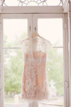 Short blush dress for bridesmaids