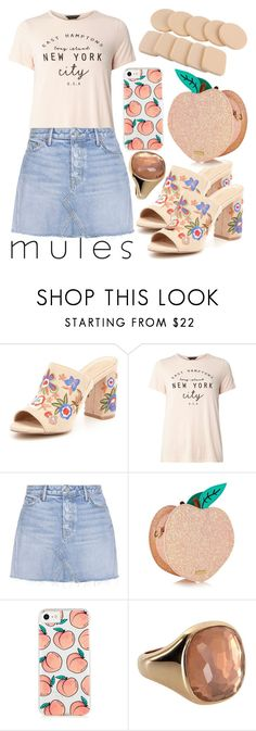 """""""Mules"""" by mexie ❤ liked on Polyvore featuring ALDO, Dorothy Perkins, GRLFRND and Topshop"""