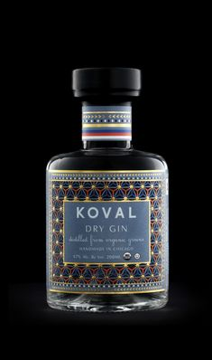 KOVAL Dry Gin on Packaging of the World - Creative Package Design Gallery Beverage Packaging, Bottle Packaging, Brand Packaging, Packaging Design, Whisky, Vodka, Tequila, Alcohol Bottles, Liquor Bottles