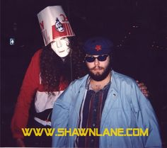 Shawn with buckethead.passing of the torch..