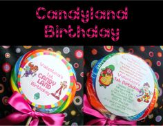 Candyland Party Invitations Free